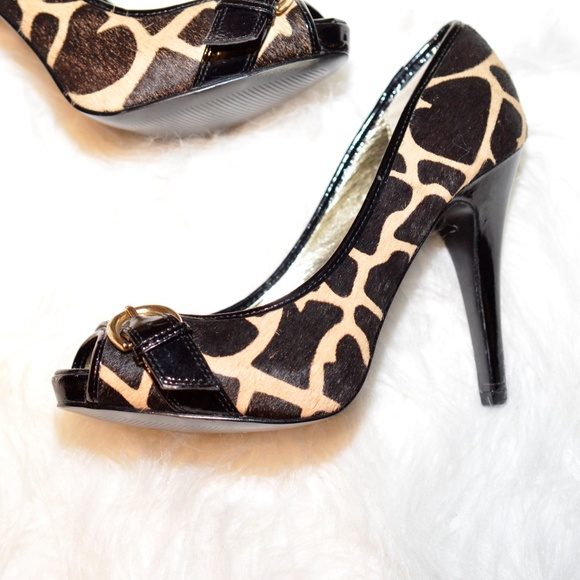 49eecb4d18 Steve Madden Shoes | Giraffe Print Calf Hair Pumps | Poshmark